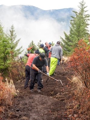 National Public Lands day 2017, Mt. Dean Stone south, Spur trail work.