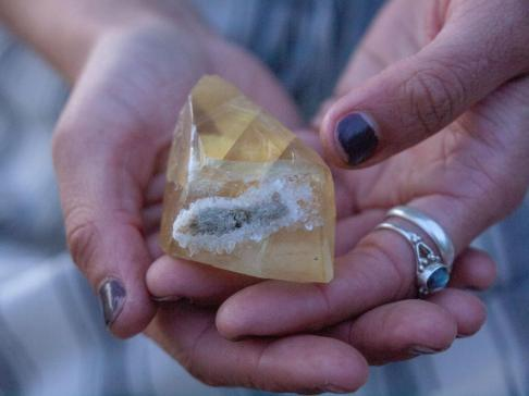 Citrine is a crystal know for attracting good energy.